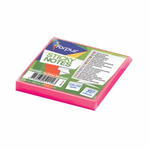 Notes adeziv 75x75mm,  80 file, roz neon, FORPUS - ACOMI.ro