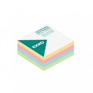 Notes autoadeziv 50x50mm, 250 file, 5 culori pastel EXXO - ACOMI.ro