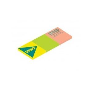Notes autoadeziv 40x50mm, 260 file, 3 culori neon EXXO - ACOMI.ro