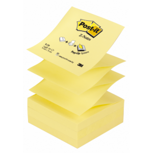 Notite adezive Post-it® Z, 76x76 mm, galben, 100 file/bucata - ACOMI.ro