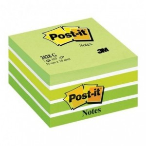 Cub notes Post-it® 76x76 mm, galben-albastru neon, 450 file/buc           - ACOMI.ro