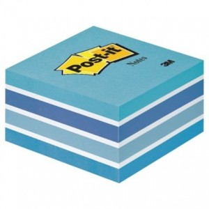 Cub notes Post-it® 76x76 mm, pastel albastru, 450 file/buc - ACOMI.ro