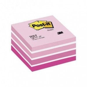 Cub notes Post-it® 76x76 mm, pastel roz, 450 file/buc - ACOMI.ro