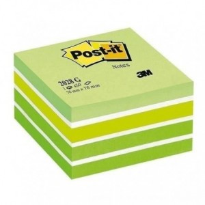 Cub notes Post-it® 76x76 mm, pastel verde, 450 file/buc              - ACOMI.ro