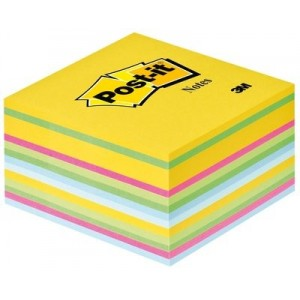 Cub notes Post-it® 76x76 mm, culori ultra, 450 file/buc - ACOMI.ro