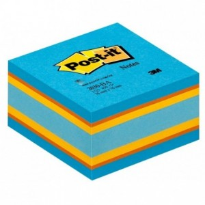 Cub notes Post-it® 76x76 mm, culori vii echilibrate, 450 file/buc - ACOMI.ro