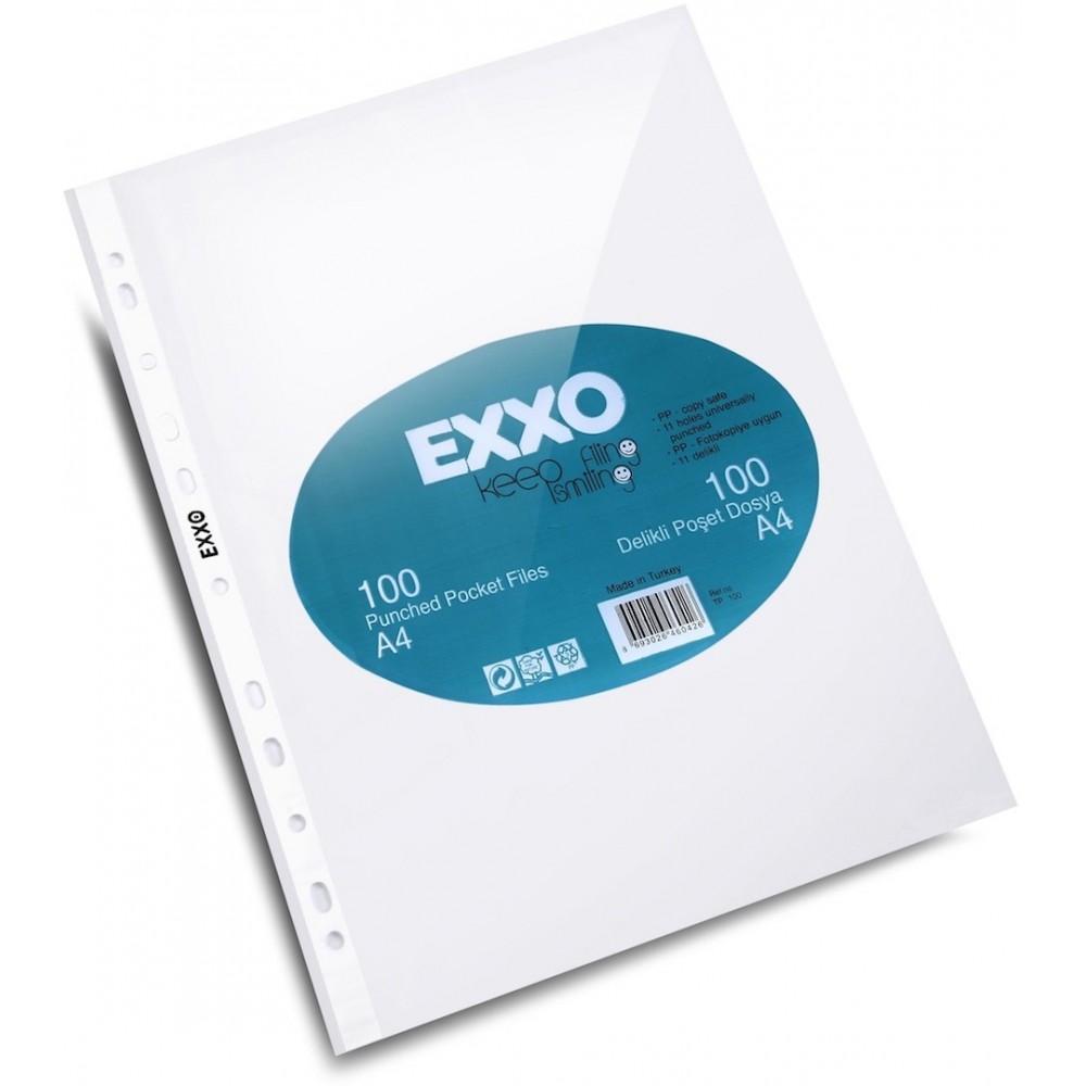 Folie protectie transparenta A4, 40 microni, 100/set, EXXO - ACOMI.ro