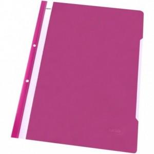 Dosar plastic cu sina, multiperforat, roz, NOKI · ACOMI.ro