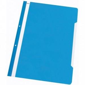 Dosar plastic cu sina, multiperforat, albastru-deschis, NOKI · ACOMI.ro