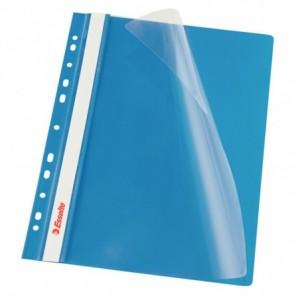 Dosar plastic ESSELTE, cu sina multiperforat 10 buc/set albastru · ACOMI.ro