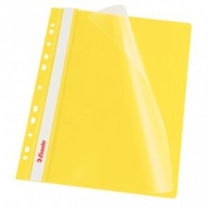 Dosar plastic ESSELTE, cu sina multiperforat 10 buc/set galben · ACOMI.ro