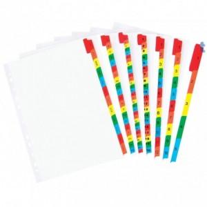 Separatoare carton, alfabetic A-Z, A4, EXXO - ACOMI.ro