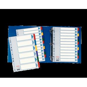 Separatoare index carton 1-6 color, mylar ESSELTE - ACOMI.ro