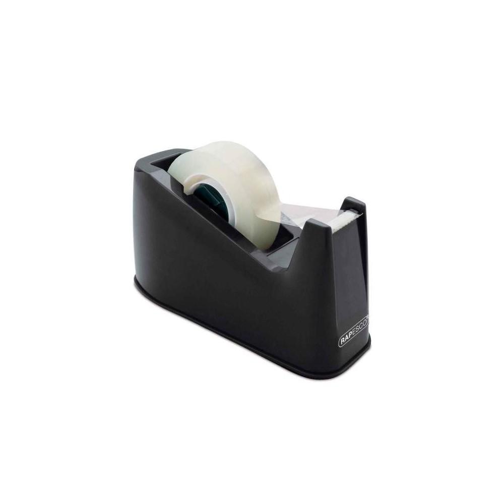 Dispenser banda adeziva 19mmx33m, negru, RAPESCO 300 · ACOMI.ro