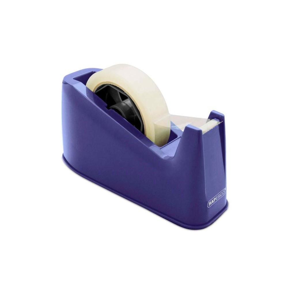 Dispenser banda adeziva 25mm, albastru, RAPESCO 500 · ACOMI.ro