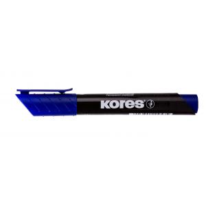 Permanent marker, vf. rotund 1-3mm, KORES - albastru - ACOMI.ro