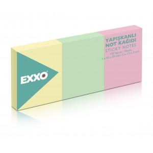 Notes autoadeziv 40x50mm, 260 file, 3 culori pastel EXXO - ACOMI.ro