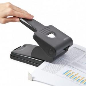 Perforator RAPESCO 865-P Heavy Duty negru, 2 perforatii, max. 65 coli - ACOMI.ro
