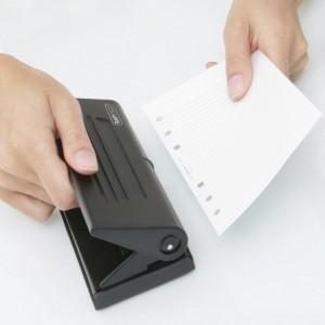 Perforator RAPESCO Diary 66-P negru, 6 perforatii, max. 8 coli - ACOMI.ro