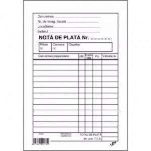 NOTA PLATA OSPATAR CU PERFOR - ACOMI.ro