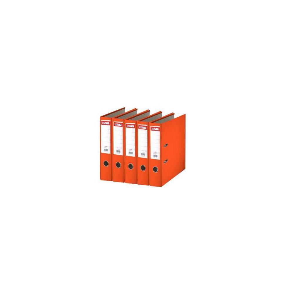Biblioraft plastifiat de 7.5 cm, portocaliu, A4, ARMA - ACOMI.ro