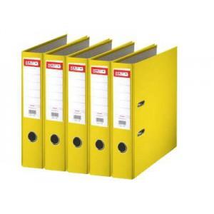 Biblioraft plastifiat de 7.5 cm, galben, A4, ARMA - ACOMI.ro